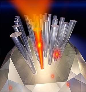 Comunicações quânticas: Luz troca dados com matéria sólida