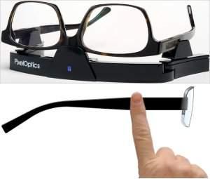 Óculos eletrônico usa lente de cristal líquido