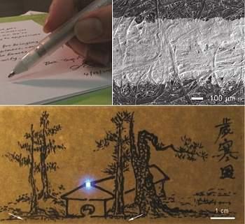 Caneta eletrônica desenha componentes eletrônicos no papel