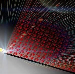 Nanoantenas criam pixel inteligente para TVs 3D holográficas
