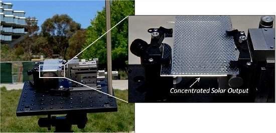 Concentrador solar de baixo custo