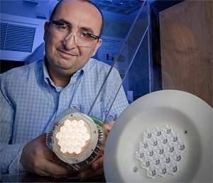 Lâmpada LED de alta potência usa refrigeração de turbina de avião