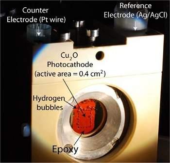 Fotossíntese artificial: proteção atômica protege célula fotoeletroquímica