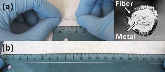 Fio de metal líquido estica oito vezes sem perder condutividade