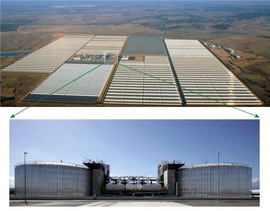 Usina híbrida solar-fóssil gera energia constantemente