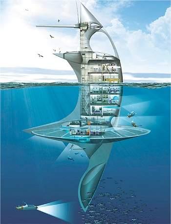 Primeiro navio vertical do mundo fará pesquisas oceânicas