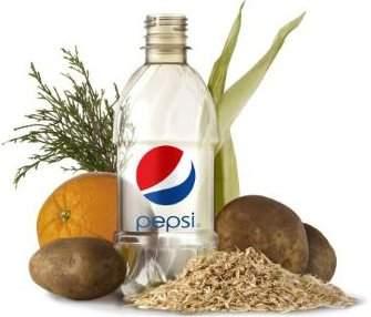 Pepsi anuncia garrafa de origem 100% vegetal