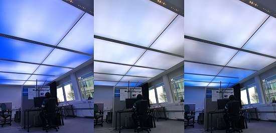 Iluminação da LED: Céu virtual é criado com ladrilhos de luz