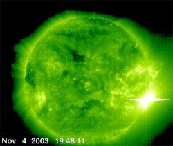 Erupção solar mais forte da história