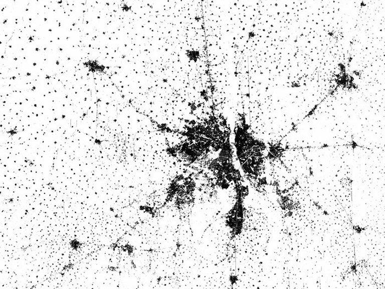 Mapa-múndi mostra Pegada Humana na Terra