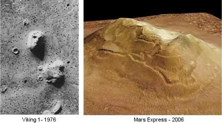 Cidônia, o rosto em Marte, agora em