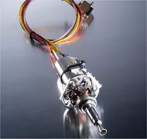 Pequeno motor-foguete de satélite, que funciona com o novo combustível verde. [Imagem: ECAPS]