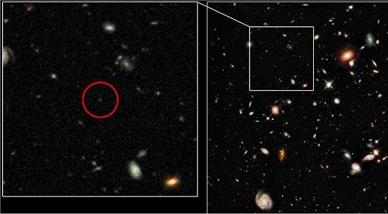Galáxia encontrada pelo Hubble é o mais distante objeto já visto