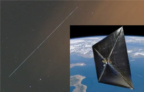Veleiro solar termina missão em mergulho espetacular
