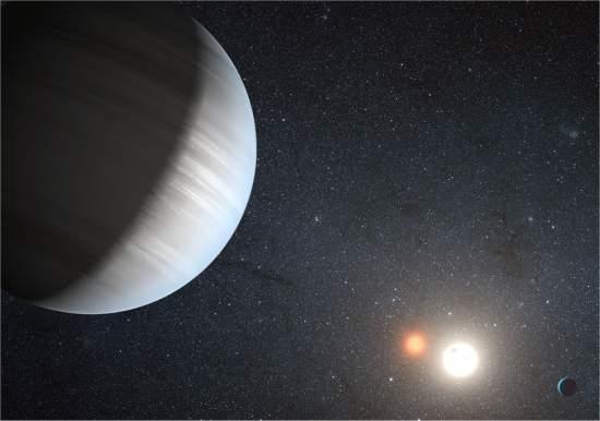 Descobertos dois planetas orbitando dois sóis