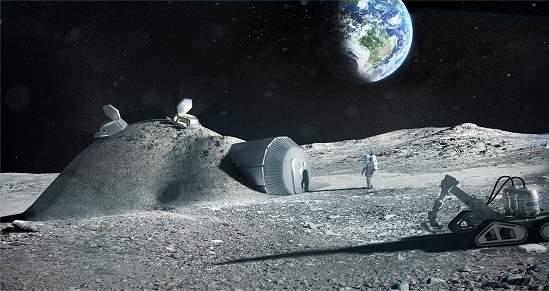 Base na Lua construída com regolito e impressora 3D