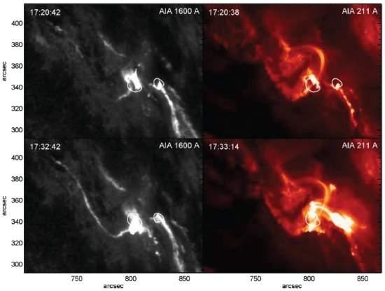 Descoberto intenso brilho infravermelho em explosão solar