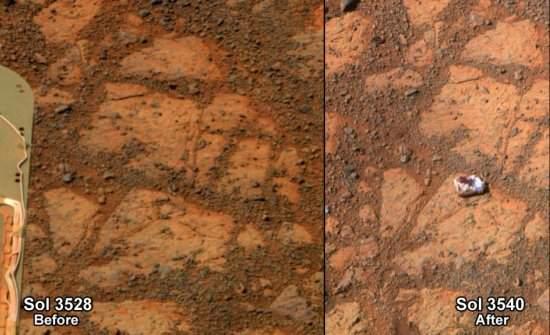 Opportunity completa 10 anos revelando rocha misteriosa em Marte