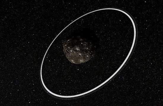 Descobertos anéis em torno de pequeno asteroide