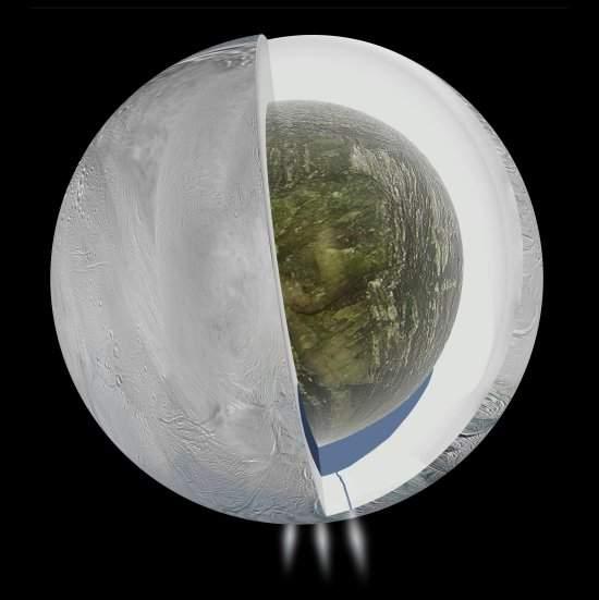 Encélado: lua de Saturno pode ter oceano sob o gelo