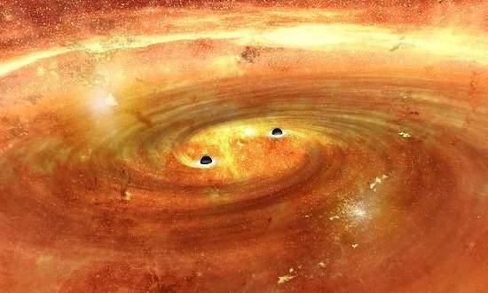 Espaço-tempo turbulento gera redemoinhos de gravidade