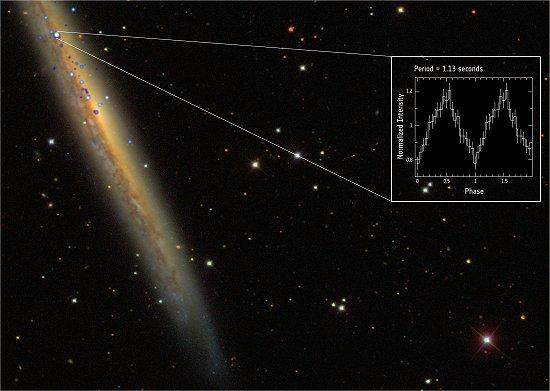 Pulsar é mil vezes mais brilhante que teoria diz ser possível