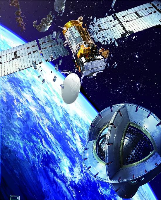 Rebocador magnético para coletar lixo espacial