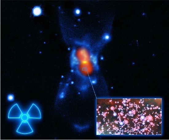 Molécula radioativa detectada no espaço pela primeira vez