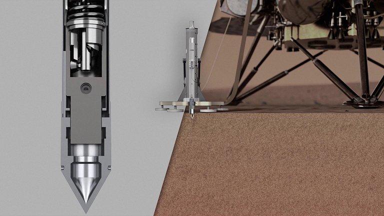 Marte expulsa perfuratriz do solo