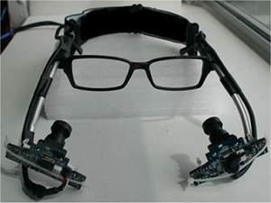 Aparelho de baixo custo controla computador com os olhos