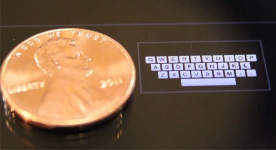 Teclados inteligentes para tablets e relógios computadorizados