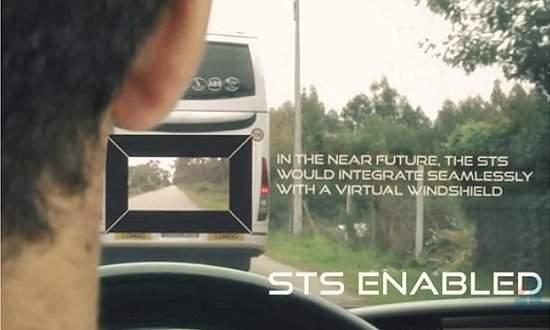 Realidade aumentada permite ver através do carro que vai à frente