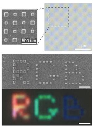 Píxel passivo gera cores vívidas com resolução de 85.000 dpi