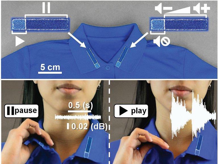 Esta camisa é um controle remoto de vestir - e antibacteriana