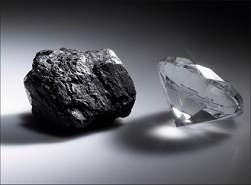 Raio laser transforma grafite em diamante, por um instante