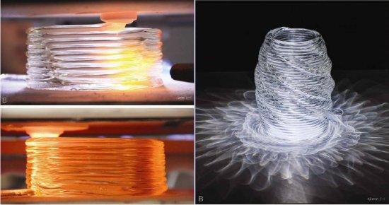 Impressão 3D de vidros