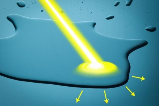 Água é manipulada apenas com luz solar