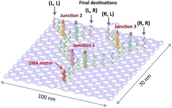 Nano-Trem de DNA viaja sozinho por nanotrilhos
