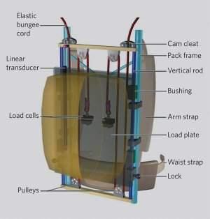 Mochila com sistema de amortecimento carrega peso de graça