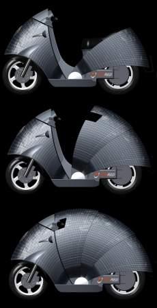 74fbff088f7 Motocicleta é movida inteiramente por energia solar