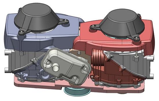 Projeto inovador divide motor de carro em dois