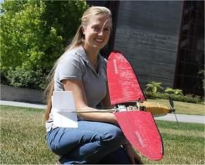 Microavião não-tripulado voa como avião e pousa como pássaro