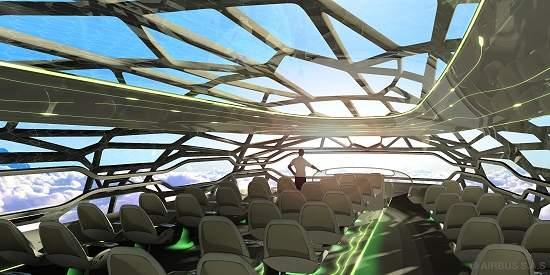 Airbus apresenta conceito futurista de avião