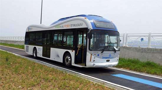 Ônibus elétricos sem fios começam a rodar na Coreia