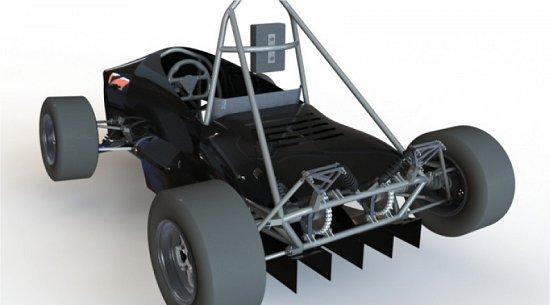 Estudantes brasileiros criam carro elétrico com dois motores
