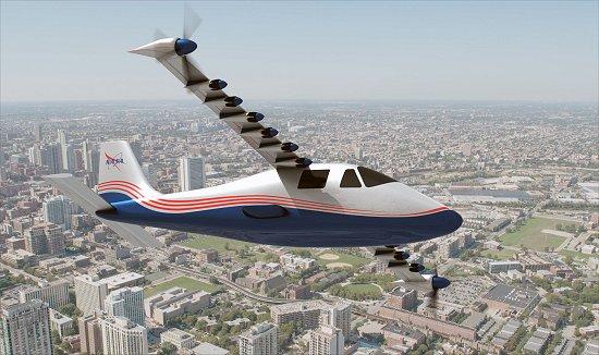 NASA construirá X-avião elétrico com 14 motores