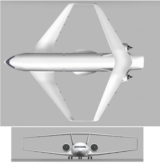Aviões vão passar de tubo com asas para caixa com asas