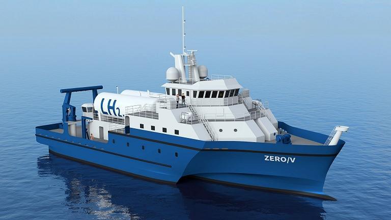 Navio de pesquisa será alimentado por células a combustível de hidrogênio