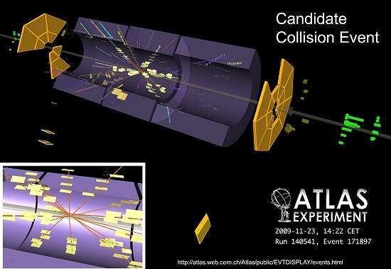 LHC detecta primeiras colisões de prótons