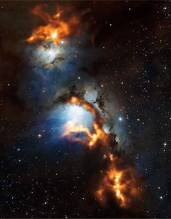 Poeira cósmica no Cinturão de Órion mostra estrelas em gestação